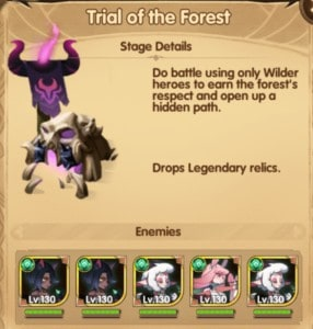 afk arena secrets of the forest open last section