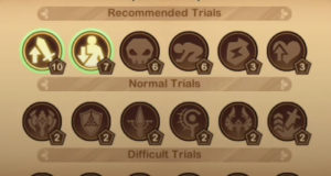 trials of god forests edge trial selection