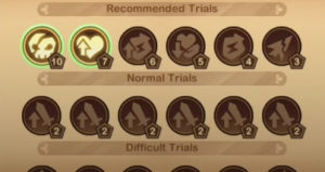 trials of god frosted expanse trial selection
