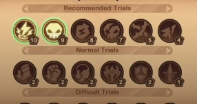 afk arena trials of god hazy timberlands trial selection